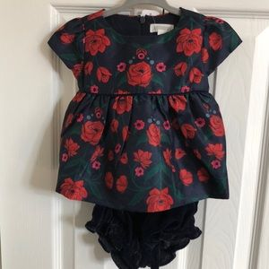 Gymboree baby dress and diaper cover